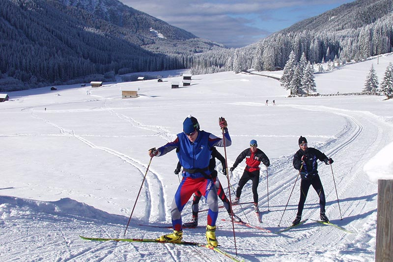 Cross-country skiing in Kartitsch